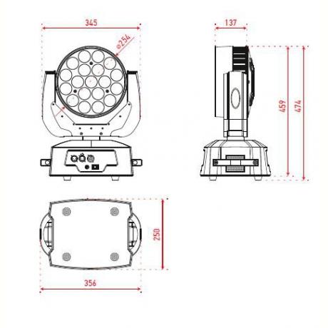 Pro Lux LUX LED 1519 Светодиодная LED голова фото 2