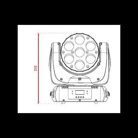 Pro Lux LUX LED 712 Светодиодная LED голова фото 2