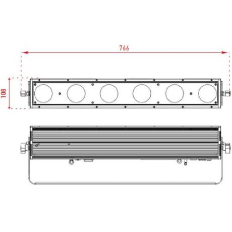 Pro Lux Светодиодный LED прожектор MATRIX BAR 6 IP фото 2