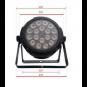 Pro Lux LUX PAR 1815 Светодиодный LED прожектор фото 2